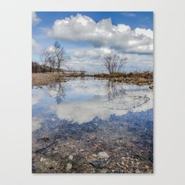 Water and Sky reflections Canvas Print