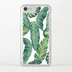 Jungle Leaves, Banana, Monstera II #society6 Clear iPhone Case