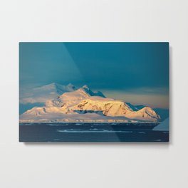 sunset over the Antarctic Metal Print