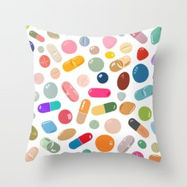Sunny Pills Throw Pillow