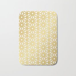 Asanoha Pattern – Gold Bath Mat
