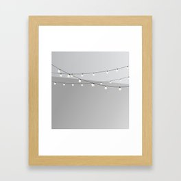 Ceiling With Lights Framed Art Print