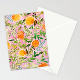 Pink Citrus Stationery Cards