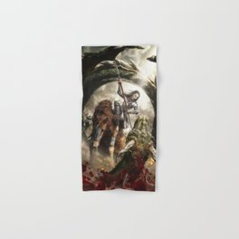 Saint Georgine and the Dragon Hand & Bath Towel