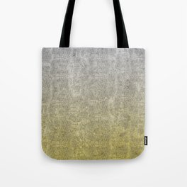 Silver and Gold Glitter Gradient Tote Bag