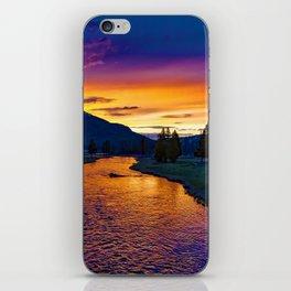 Sundown At Yellowstone iPhone Skin