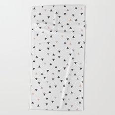 DOWN UP / scandi white / warm grey / flax / lavender Beach Towel