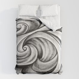 Swirl (Gray) Comforters