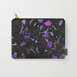 Black terrazzo and purple Carry-All Pouch