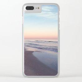 Beach Colors Clear iPhone Case
