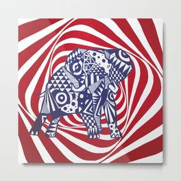 Psychedelephant Metal Print