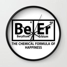beryllium - I love beer Wall Clock