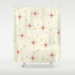 Mid Century Modern Stars 1950s Colors Shower Curtain