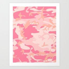 Neck Gator Pink Camoflague Pink Camo Neck Gaiter Art Print