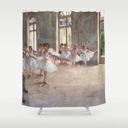 Ballet Rehearsal 1873 By Edgar Degas   Reproduction   Famous French Painter Shower Curtain