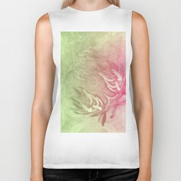 Pink and green wattle and kaleidoscope Biker Tank