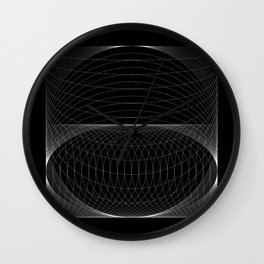 Space Warped Wall Clock