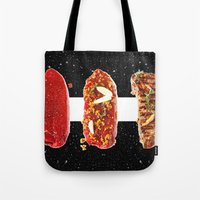 meat Tote Bags featuring Meat by Danny Ivan