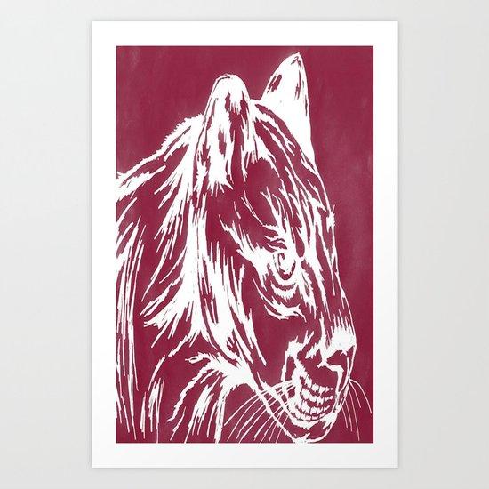 red cougar Art Print