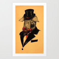 Mr. P I G Art Print