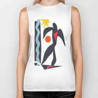 matisse Biker Tanks featuring inspired to Matisse (black) by Chicca Besso