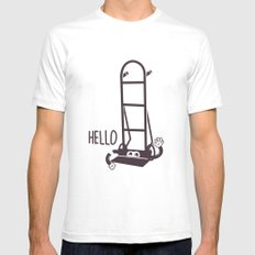 Hello Dolly White Mens Fitted Tee SMALL