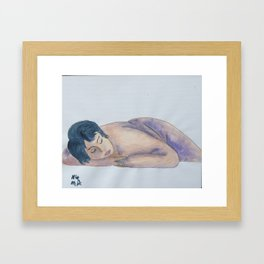 Knickers Off! Framed Art Print