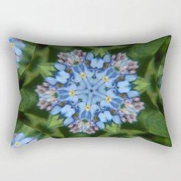 Fluid Nature - Forget Me Not - Abstract Kaleidoscope Rectangular Pillow
