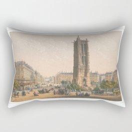 Paris art print Paris Decor office decoration vintage decor TOUR SAINT JACQUES of Paris Rectangular Pillow