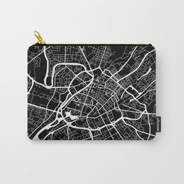 Street MAP Manchester // Black&White Carry-All Pouch