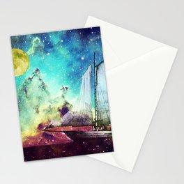 Galileo's Dream - Schooner Art By Sharon Cummings Stationery Cards