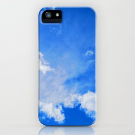 blue cloudy sky std iPhone Case