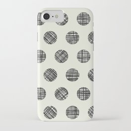Hatched Circles in Cream iPhone Case
