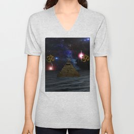 OM and the space Pyramid Unisex V-Neck
