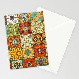 Vintage mosaic talavera ornament Stationery Cards
