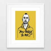 taxi driver Framed Art Prints featuring Taxi Driver by Dave Flanagan