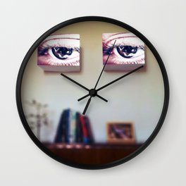 Room Full of Eyes Wall Clock