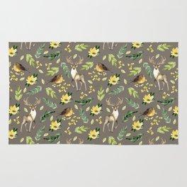 Deer and birds Rug