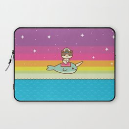 Admiral Whiskers Magical Narwhal Ride Laptop Sleeve
