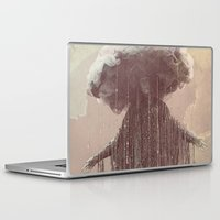 lady gaga Laptop & iPad Skins featuring storm lady by Maria Enache