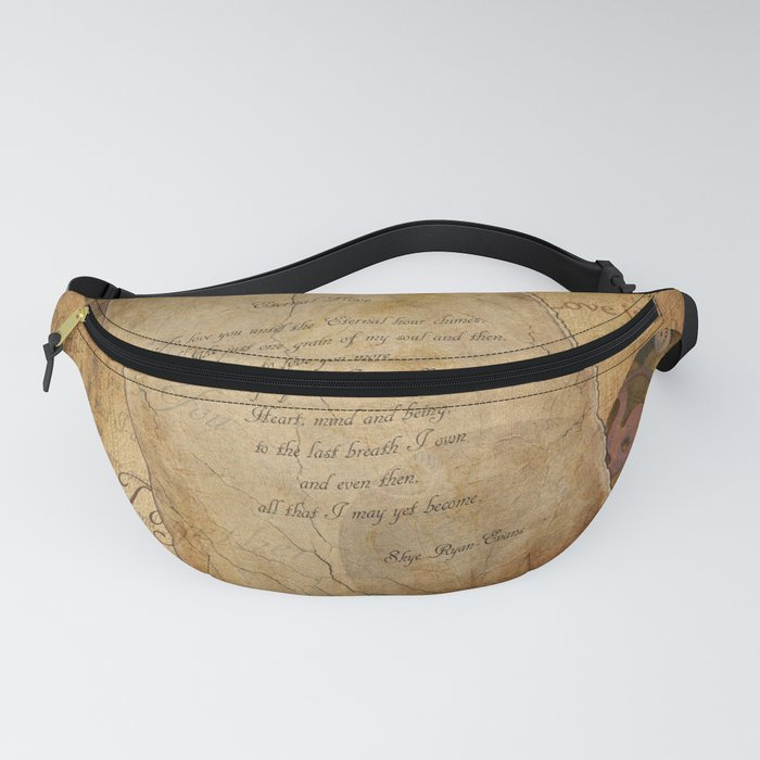 Two Hearts are One - Vintage Romantic Steampunk Art Fanny Pack