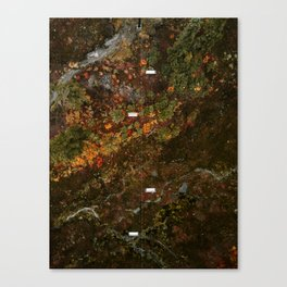 Chairlifts in autumn Canvas Print