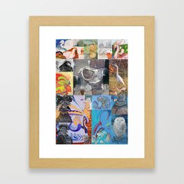 FRED BIRDS SYNECTICS2 #6 Framed Art Print