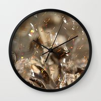 confetti Wall Clocks featuring Confetti by Irène Sneddon