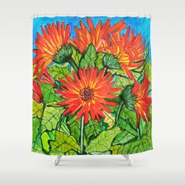 Gerbera Daisies Shower Curtain