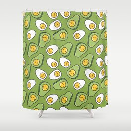 Egg and avocado Shower Curtain