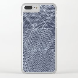 Blue and White Clear iPhone Case