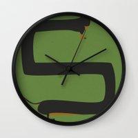 dachshund Wall Clocks featuring Dachshund by Yzabelle Wuthrich