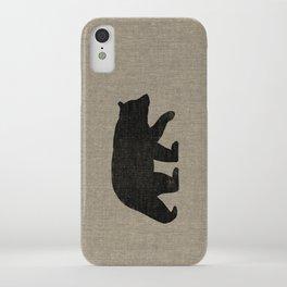 Black Bear Silhouette iPhone Case