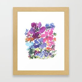 Pretty Poppy Patch Framed Art Print